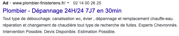 exemple annonce search google ads
